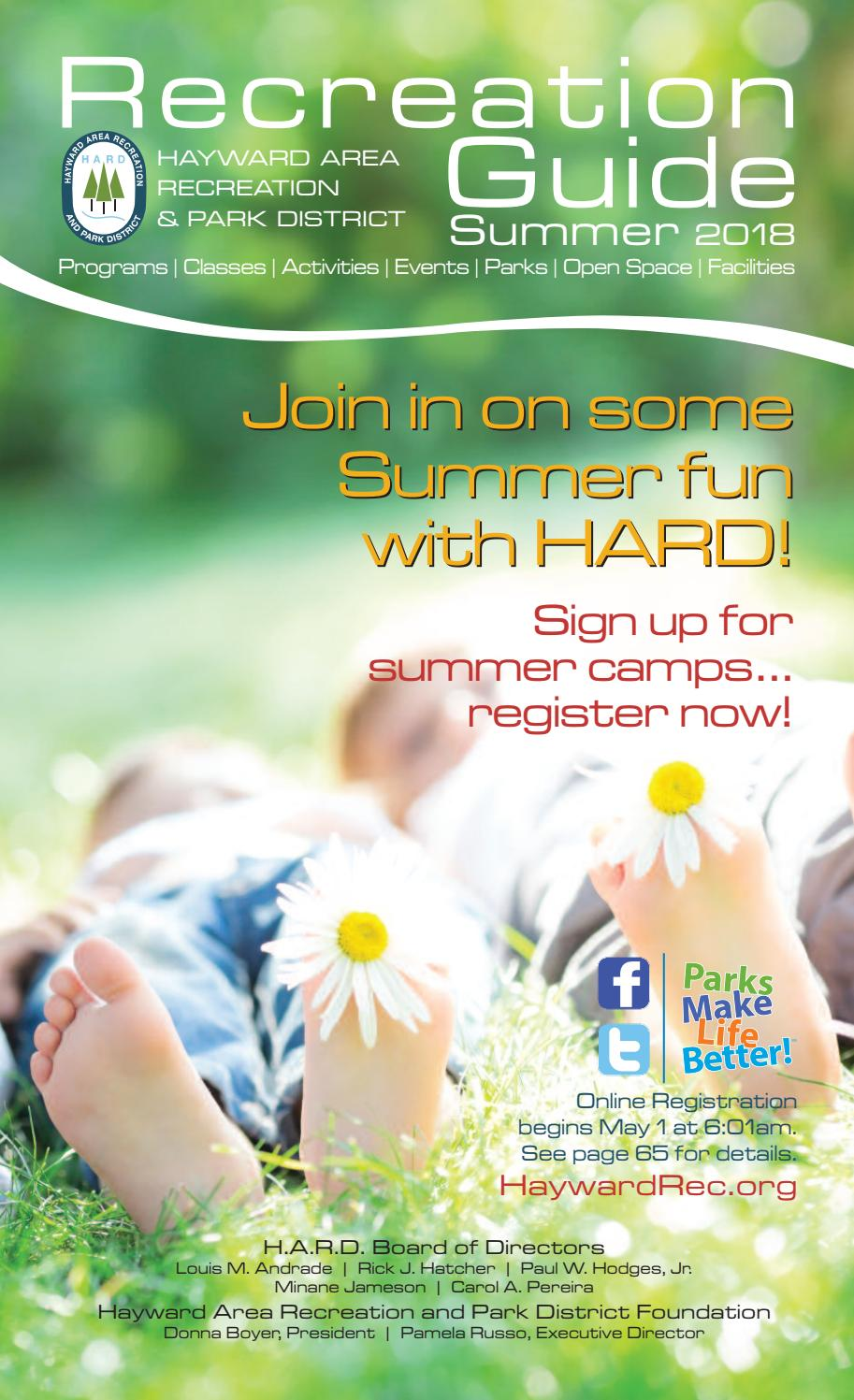 Hayward Recreation and Park District Guide Summer 2018 by Nicole Roa