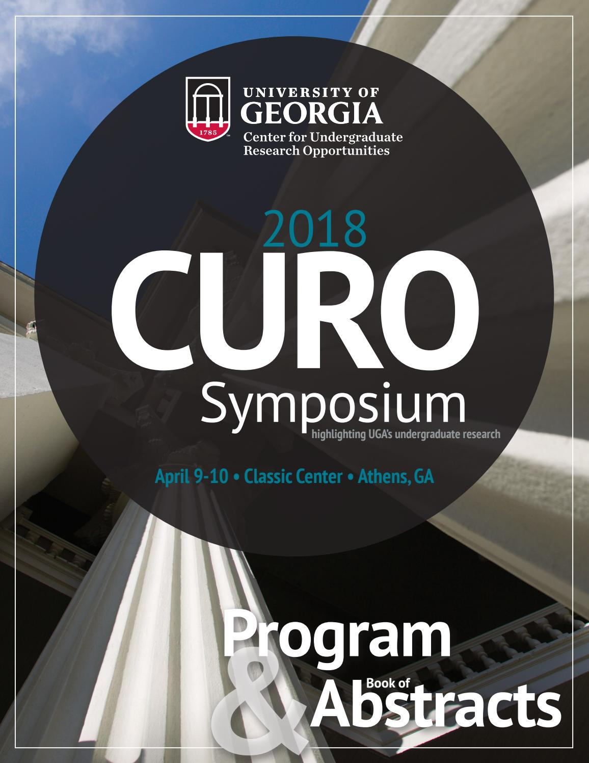 89a38fb72c CURO Symposium 2018 Book of Abstracts by UGA Honors Program - issuu