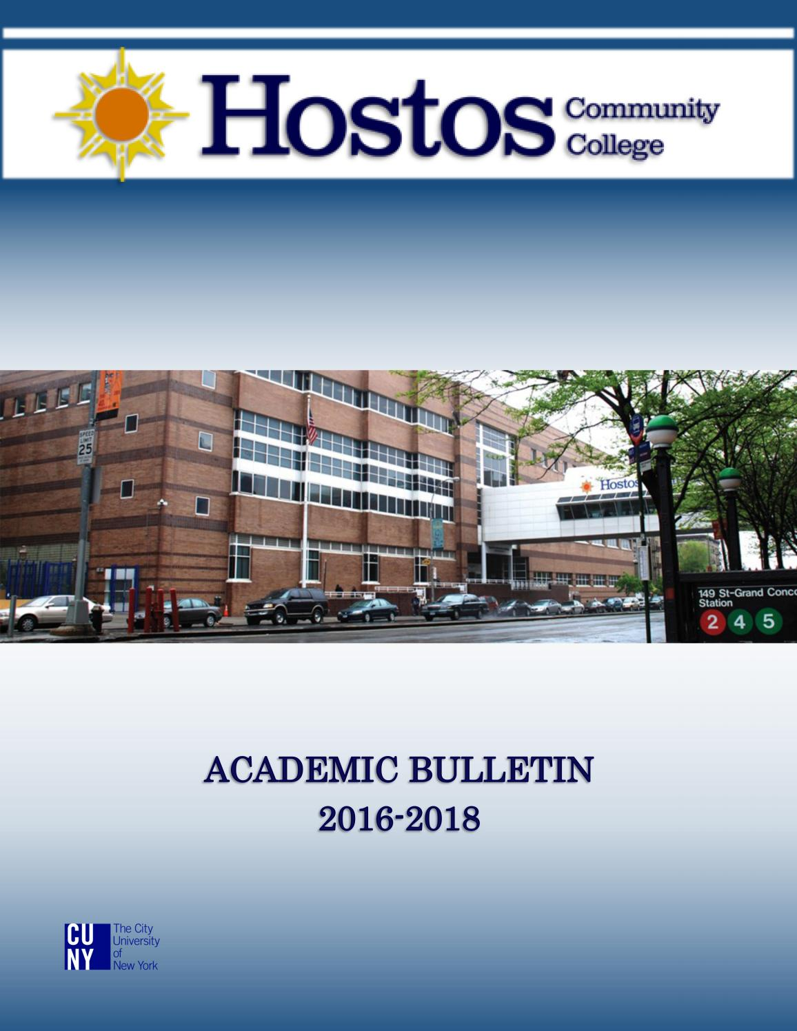 2016 - 2018 Hostos Catalog by Hostos Community College - issuu