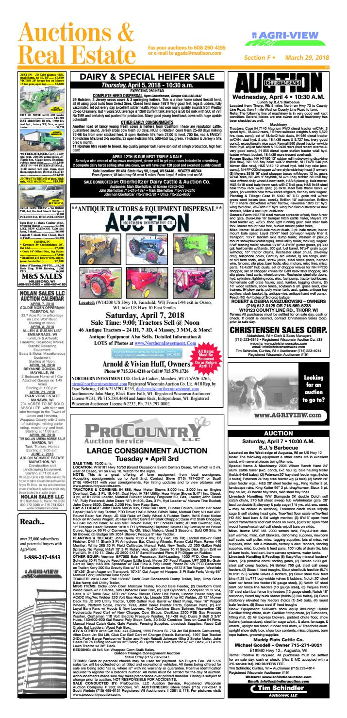March 29, 2018 Auctions & Real Estate by Madison com - issuu