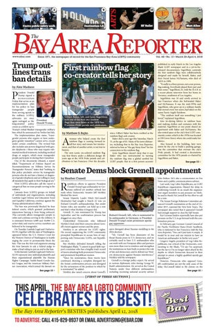 March 29 2018 Edition Of The Bay Area Reporter By Bay Area Reporter