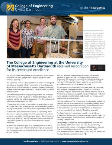 college  engineering newsletter  umass dartmouth issuu