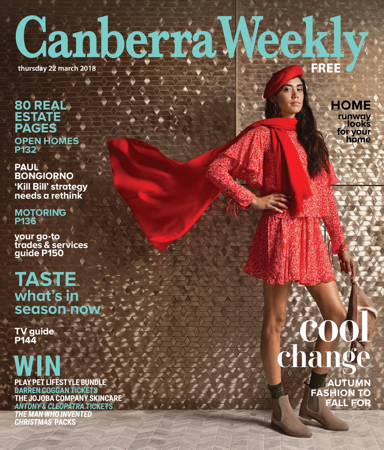 22 March 2018 By Canberra Weekly Magazine