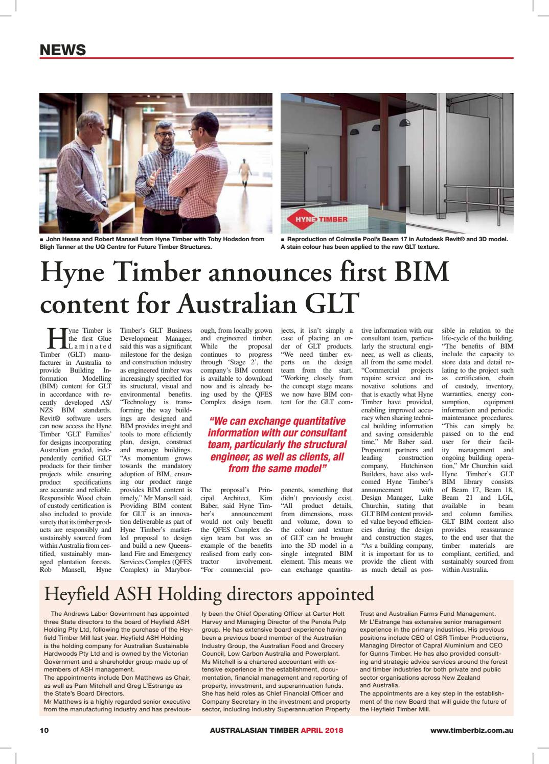 Australasian Timber - April 2018 by provincial press group - issuu