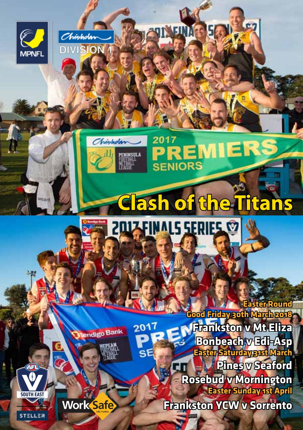 dd8fb248be MPNFL Record 2018 - Easter Weekend by AFL South East - issuu