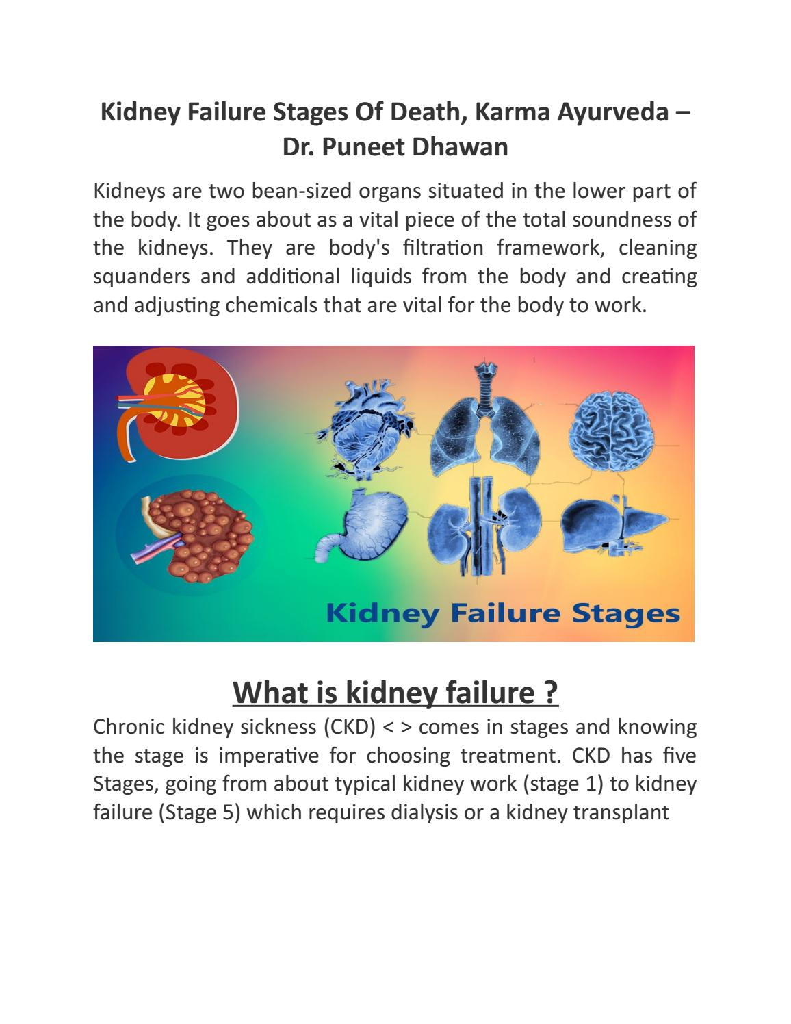 Kidney Failure Stages Of Death By Kidney Treatment In Ayurveda Issuu