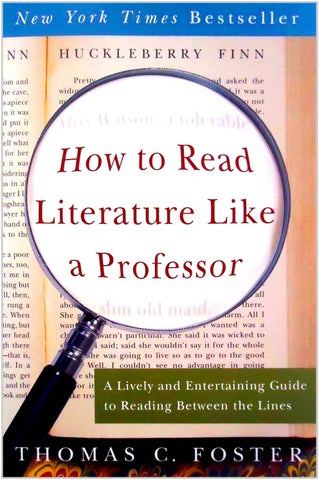 How To Read Literature Like A Professor 1st By Bkardula Issuu