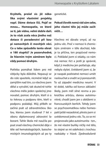 Page 33 of Homeopatie s Kryštofem Látalem