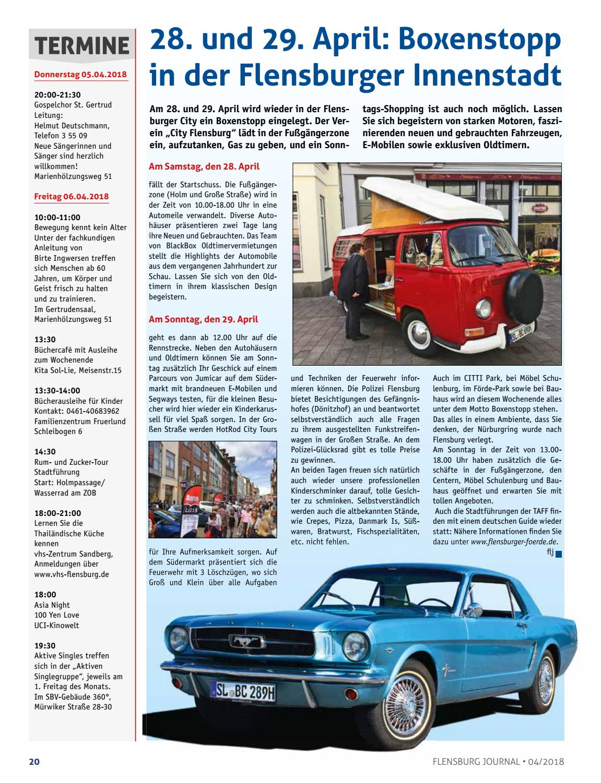 Flensburg Journal 187 April 2018 By Verlagskontor Adler Issuu