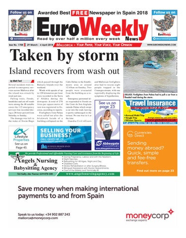 Euro weekly news mallorca 29 march 4 april 2018 issue 1708 by page 1 fandeluxe Choice Image