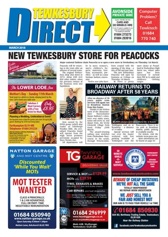 52592f25784 Tewkesbury Direct Magazine March 2018 by Tewkesbury Direct Magazine ...