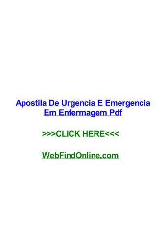 Apostila De Urgencia E Emergencia Em Enfermagem Pdf By