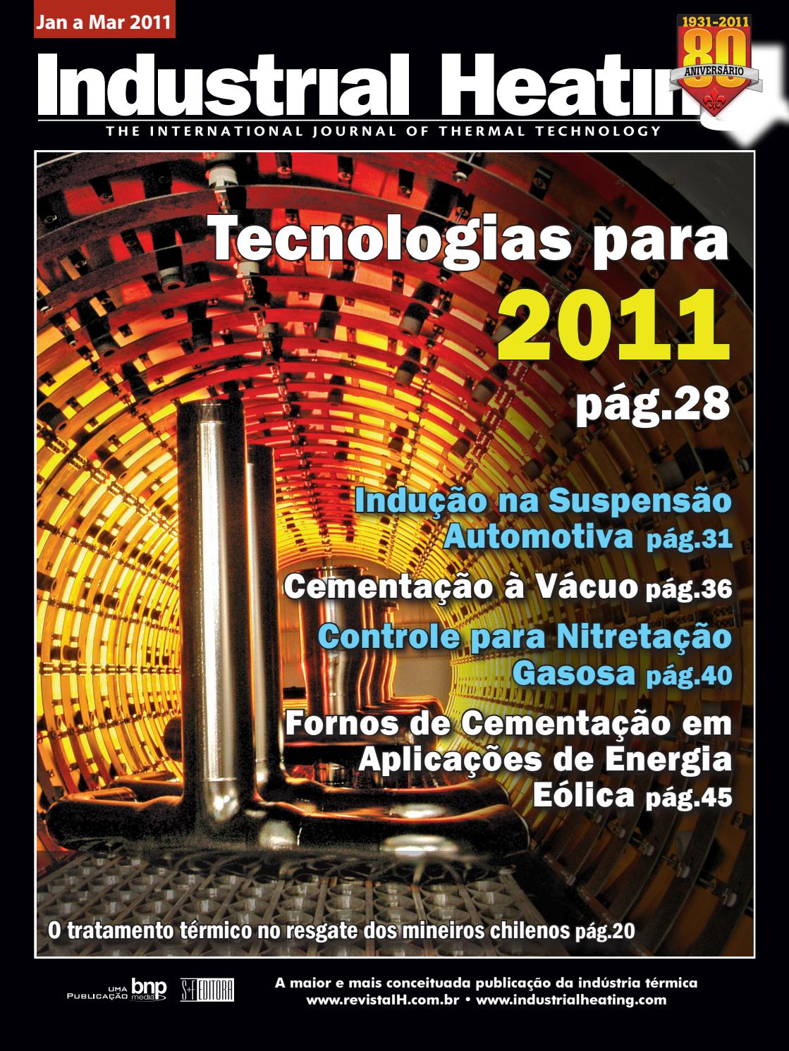 Revista Industrial Heating - Jan a Mar 2011 by S+F Editora - issuu c545c0d8fe