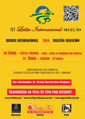 Catalogo Leilão Internacional 2018 TBS by eleturf - issuu d7353c21b1a