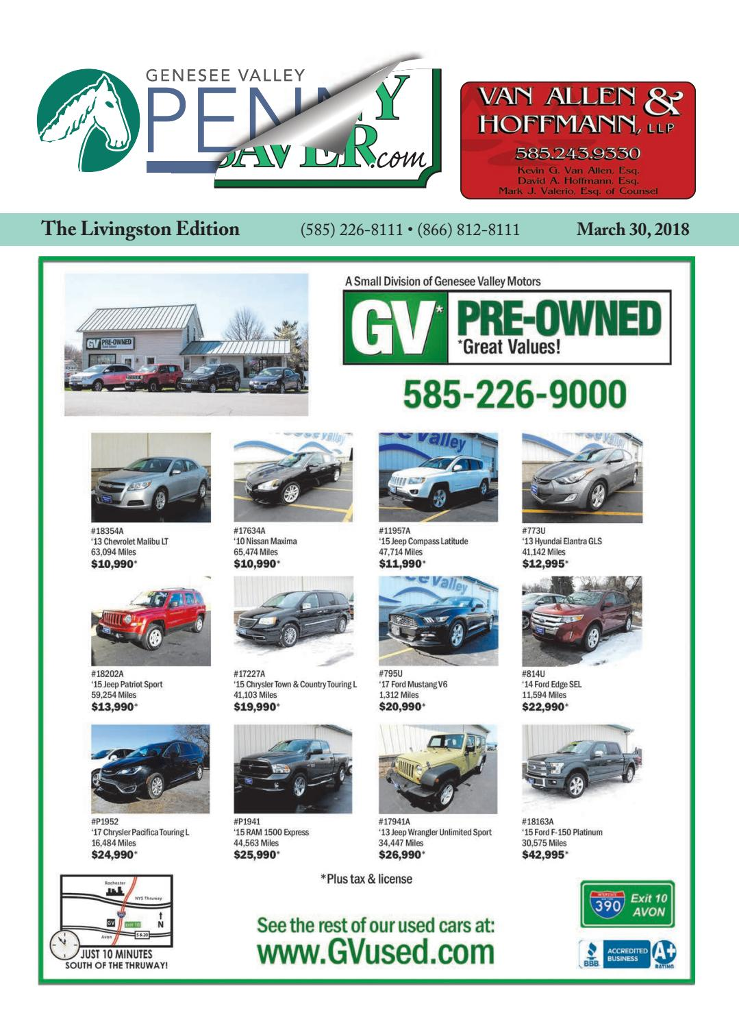 Livingston Edition - The Genesee Valley Penny Saver 3/30/18