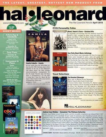 April 2018 HL Herald by Hal Leonard - issuu