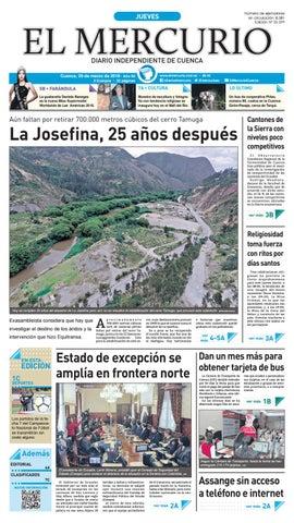 hemeroteca 29-03-2018 by Diario El Mercurio Cuenca - issuu 5f804bdd724