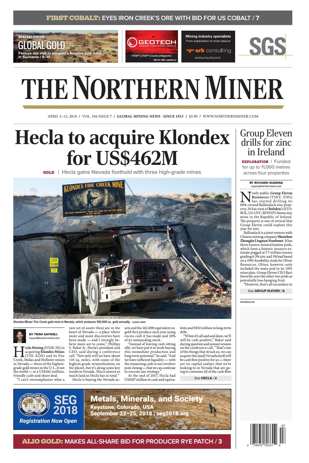 The Northern Miner April 2 2018 Issue