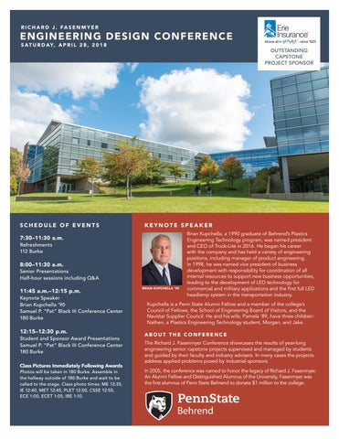 buy popular 9e27a 737a6 Fasenmyer Engineering Design Conference Program 2018