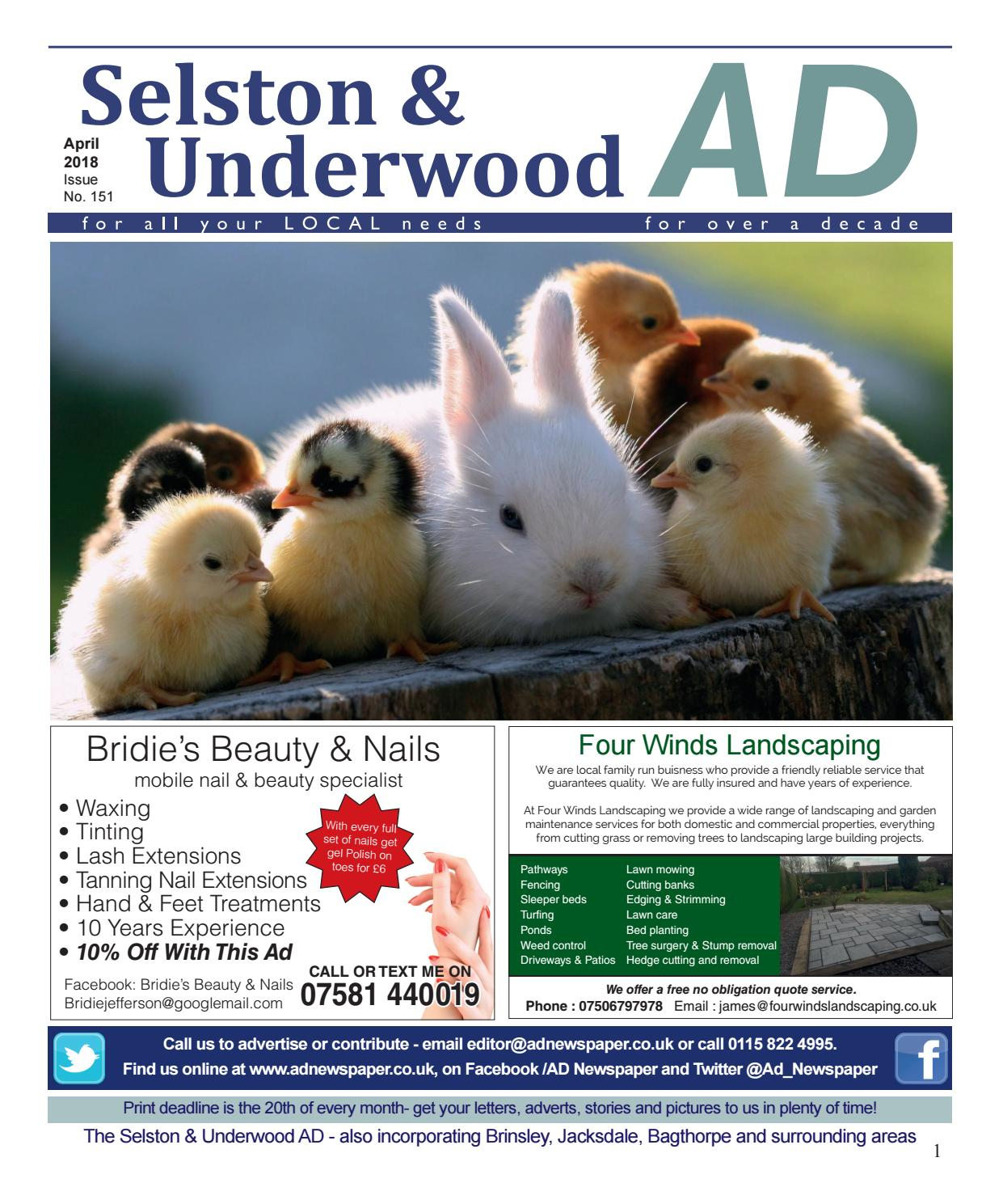 Ad Newspaper For Selston And Underwood Mansfied Nottingham