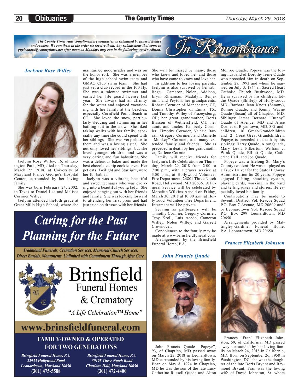 2018-03-29 St  Mary's County Times by Southern Maryland