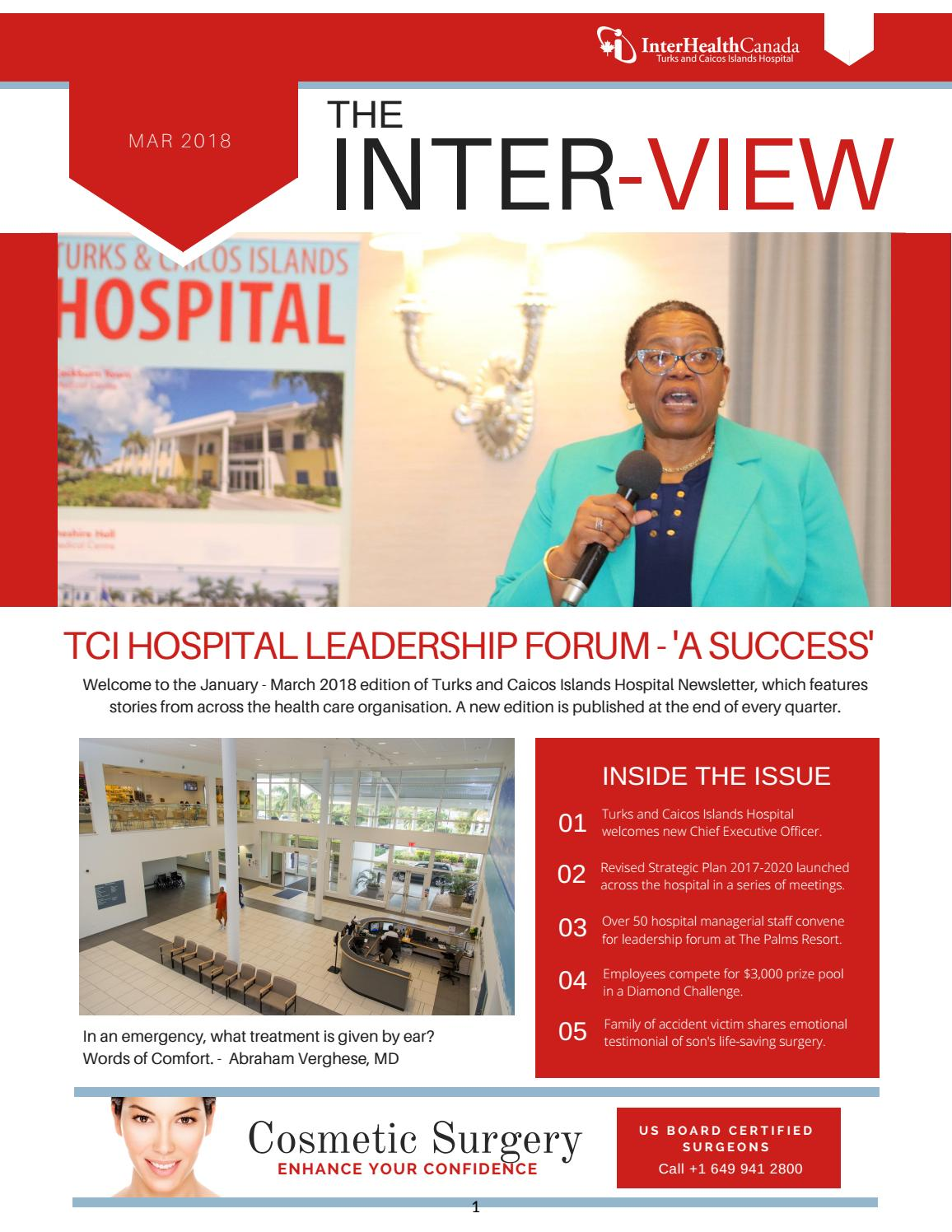 The Interview January March 2018 By Turks And Caicos Islands