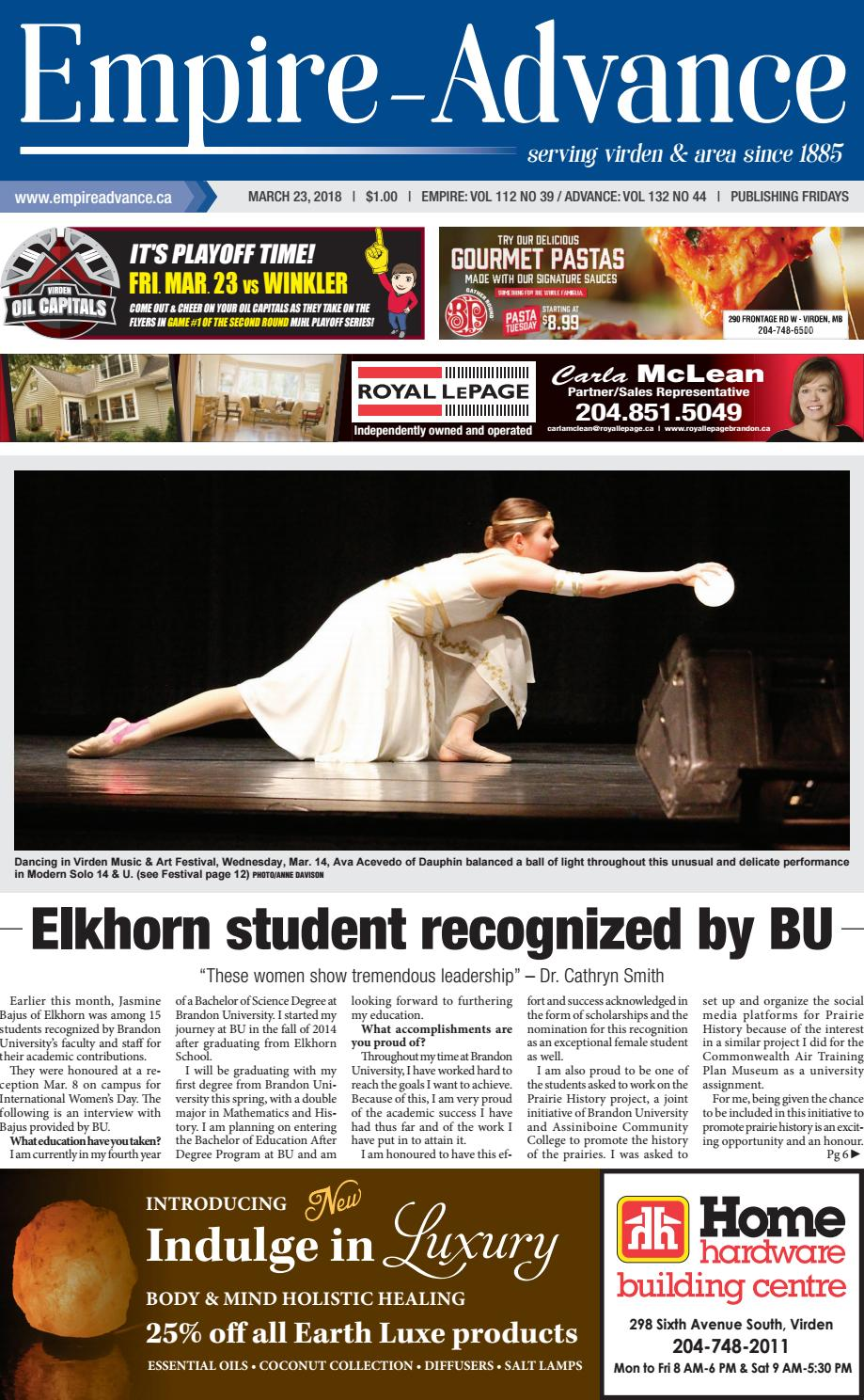 March 23 2018 by Virden-Empire-Advance - issuu