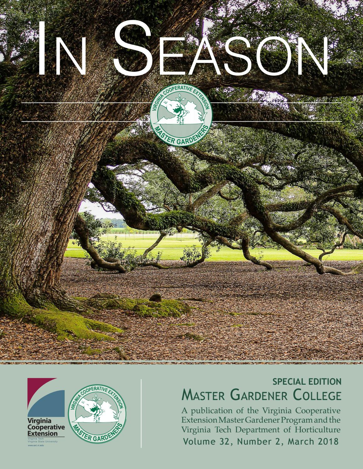 In Season - College 2018 by VCEMasterGardener - issuu