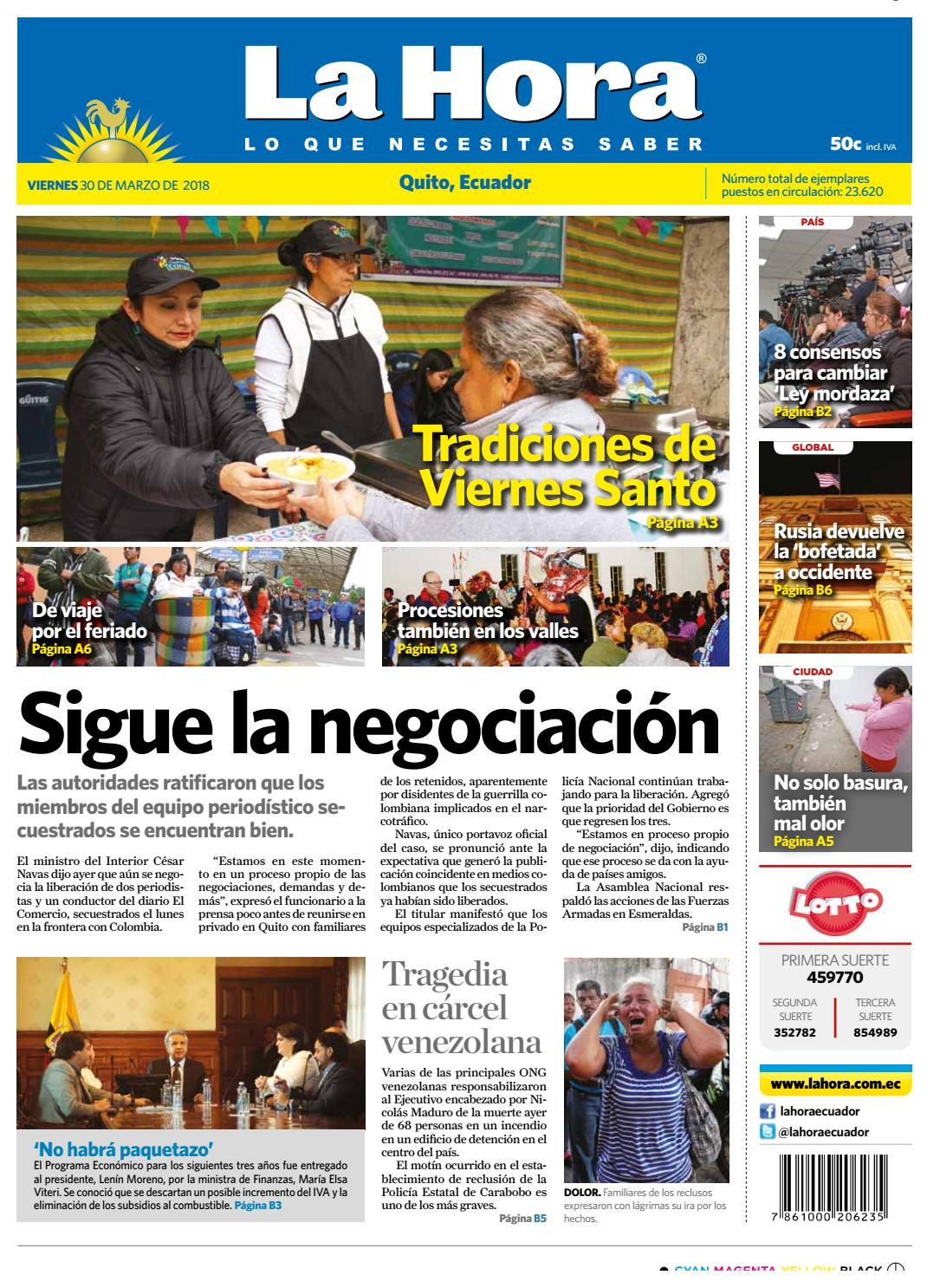 Quito 30 de marzo de 2018 by Diario La Hora Ecuador - issuu