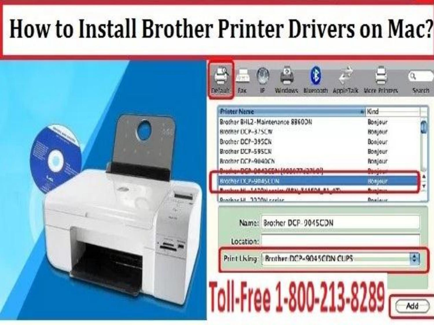 Install brother printer drivers on mac or 1800 213 8289 by