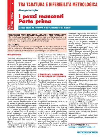 Page 21 of Tra taratura e riferibilità metrologica