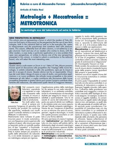 Page 25 of Nuove prospettive per la metrologia - La Metrotronica