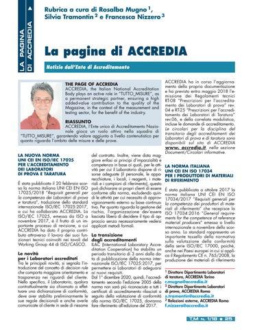 Page 27 of Le pagine di ACCREDIA
