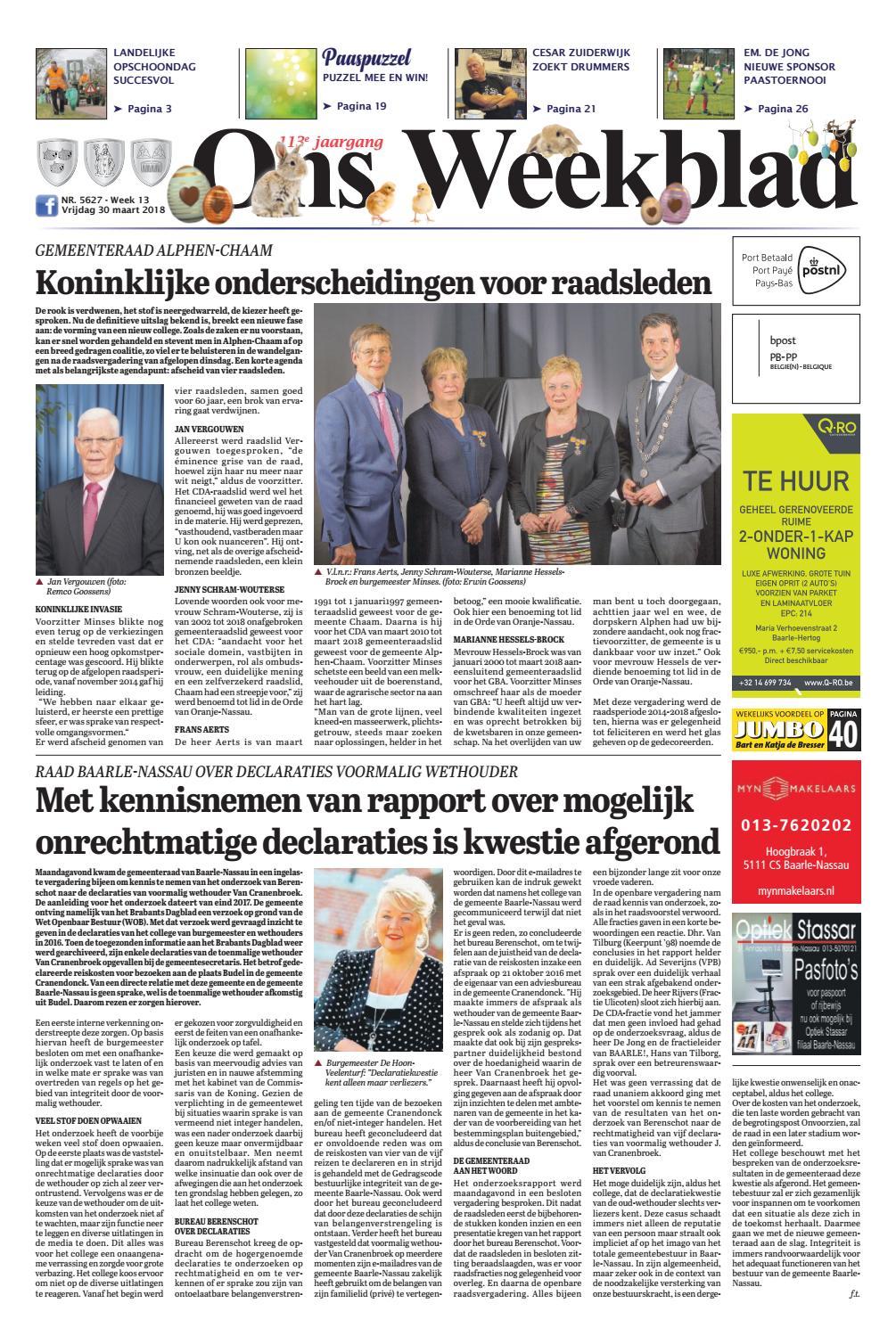Ons Weekblad 30 03 2018 by Uitgeverij Em de Jong   issuu