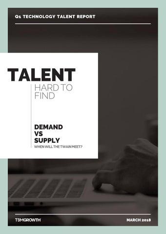 Q1 Technology talent report India 2018 | Tech Talent | Data