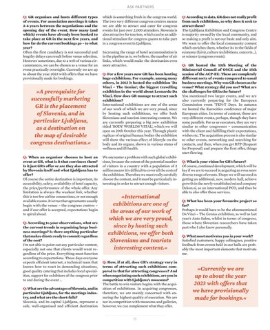 Page 73 of Interview with Špela Terpin, GR Ljubljana Exhibition and Convention Centre