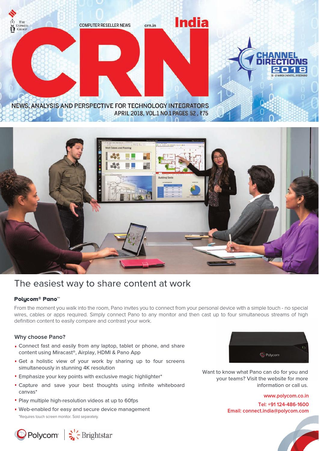 CRN India April 2018 (Vol 1, No 1) by Indian Express - issuu