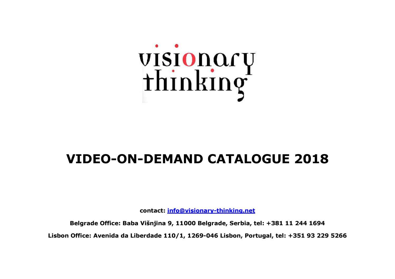 Visionary Thinking Catalogue VOD 2018 by Dragan Petrovic - issuu