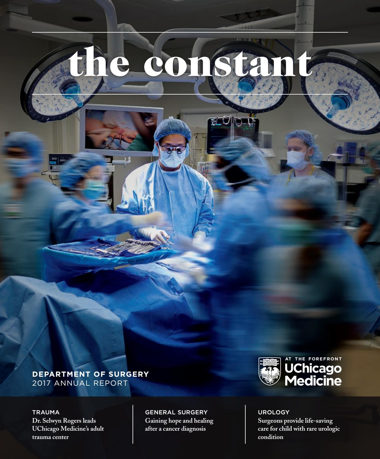 UChicago Medicine 2017 Department of Surgery Annual Report by