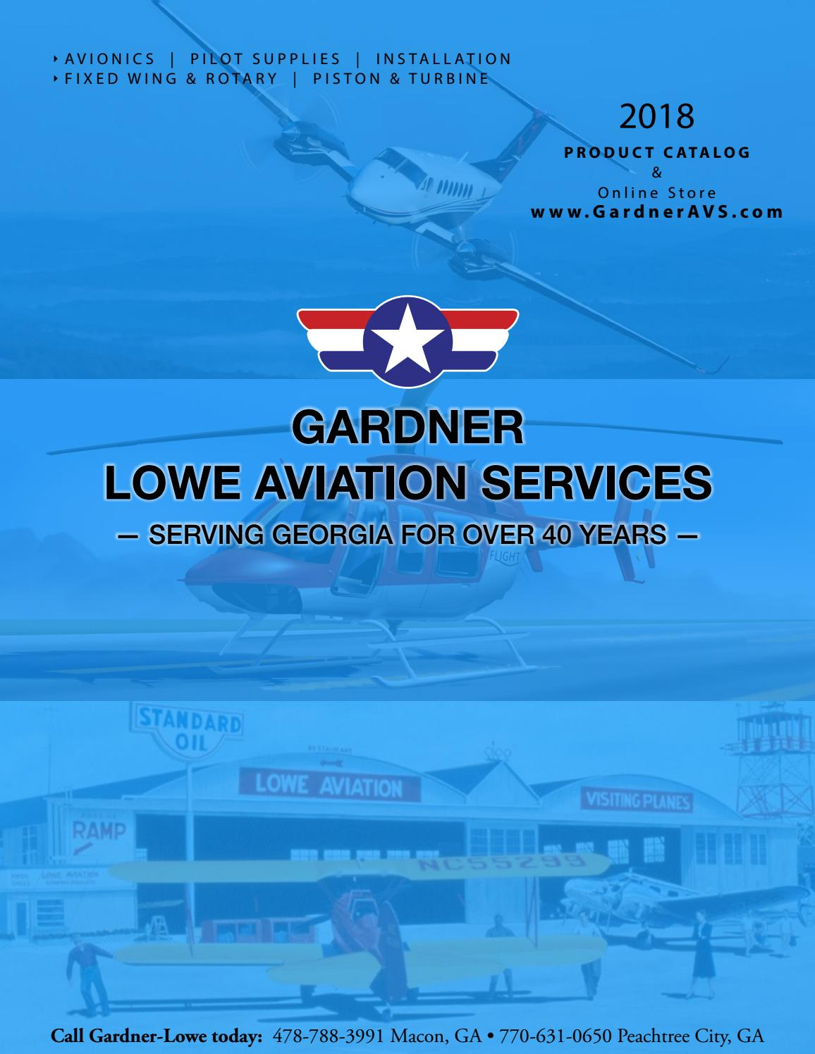Gardner Lowe Aviation Services 2018 Product Catalog by m t ... on