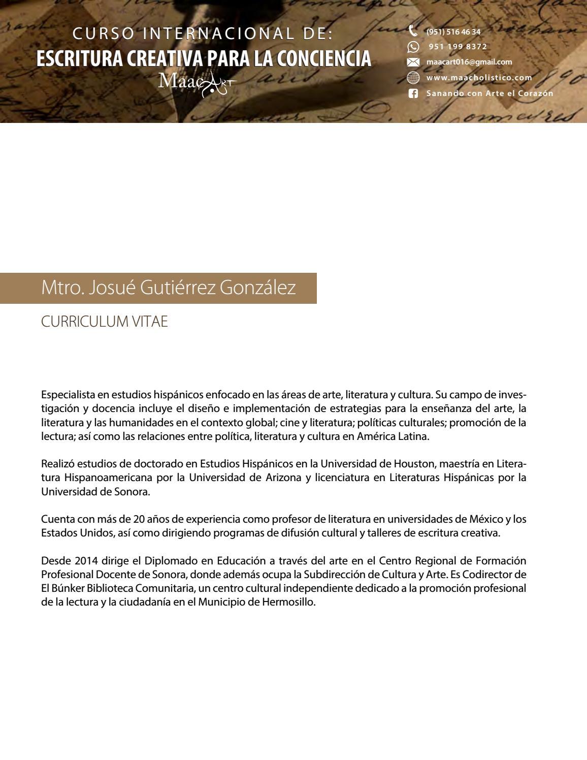 CV Josué Gutierrez by arteterapia - issuu