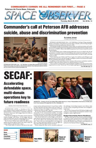 Peterson Space Observer March 29 2018 By Colorado Springs Military