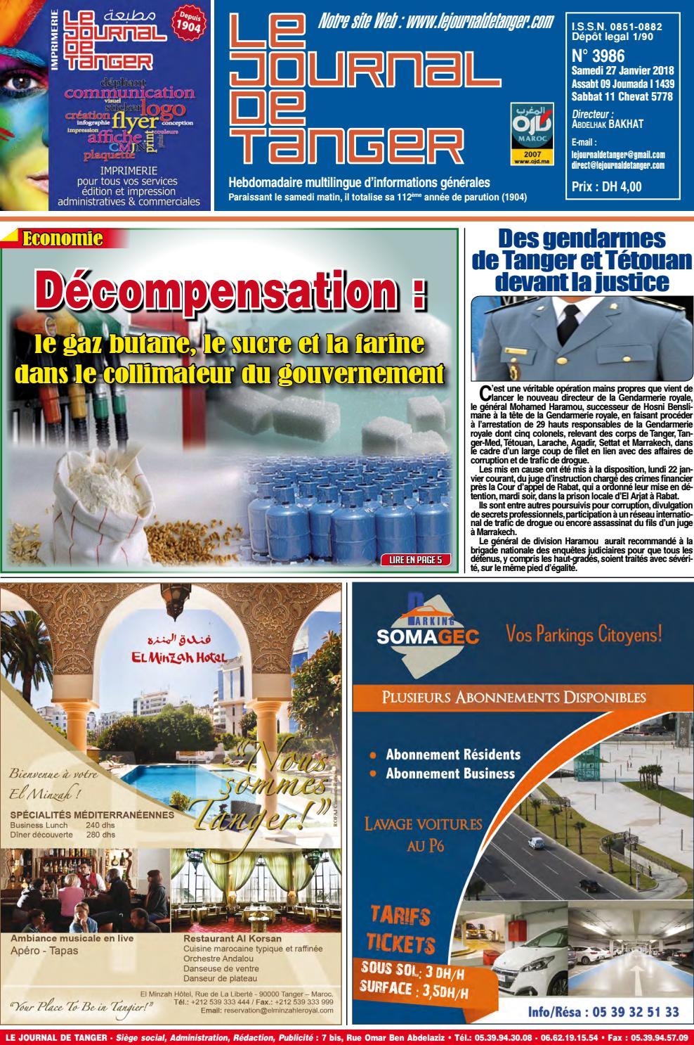 Le journal de Tanger 27 janvier 2018 by Le Journal de Tanger