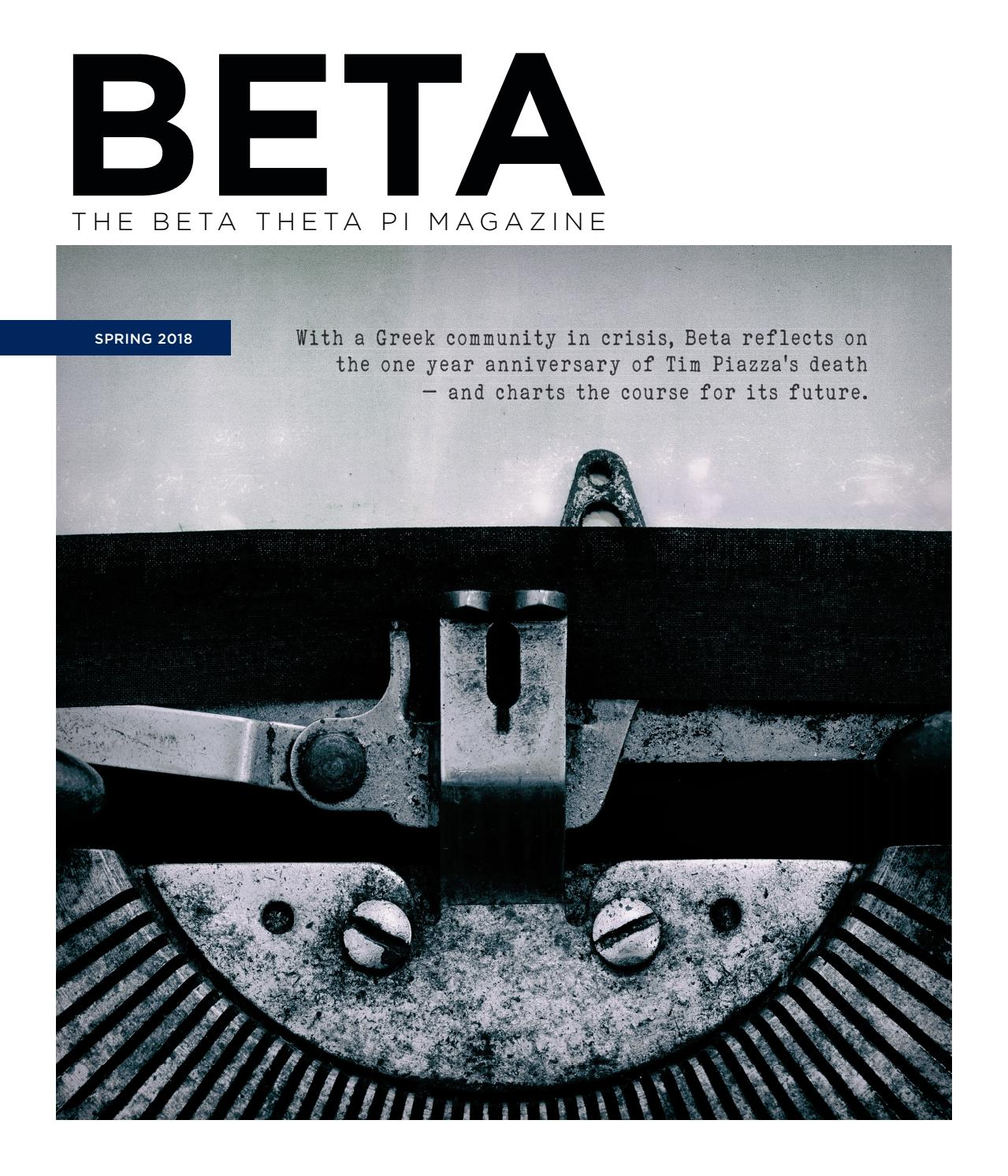 The Beta Theta Pi - Spring 2018 by Beta Theta Pi - issuu