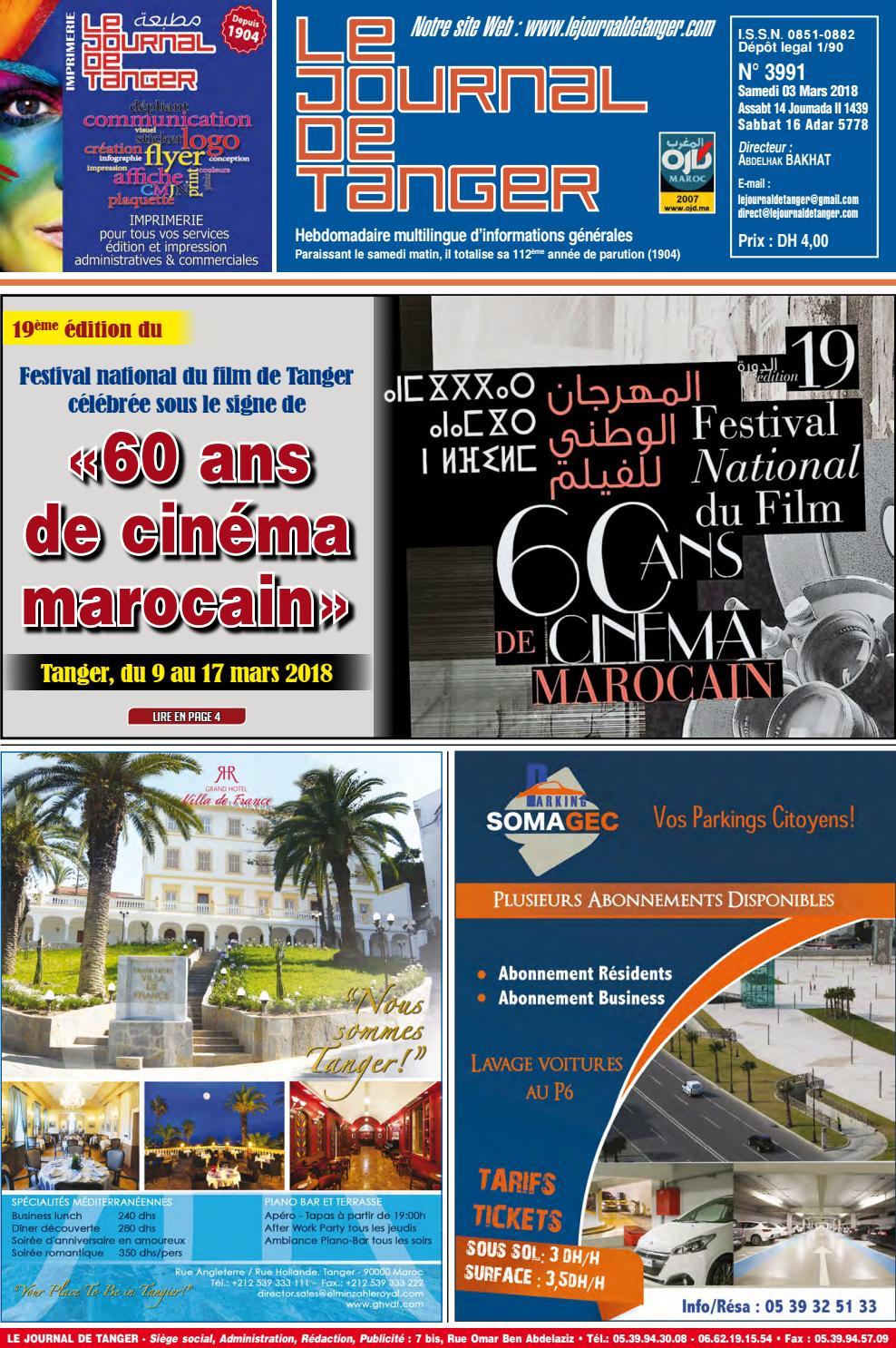 0b917692f5aa5 Le journal de Tanger 03 mars 2018 by Le Journal de Tanger - issuu