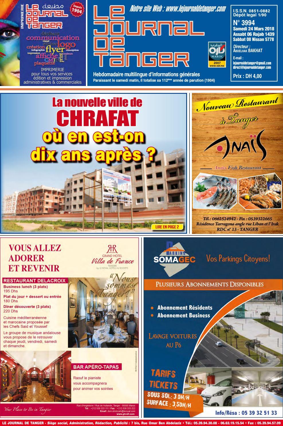 4cf954594 Le journal de Tanger 24 mars 2018 by Le Journal de Tanger - issuu
