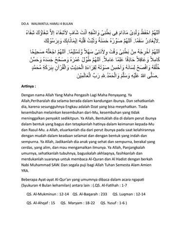 Doa Walimatul Hamli By Djuned Gamaruddin Issuu