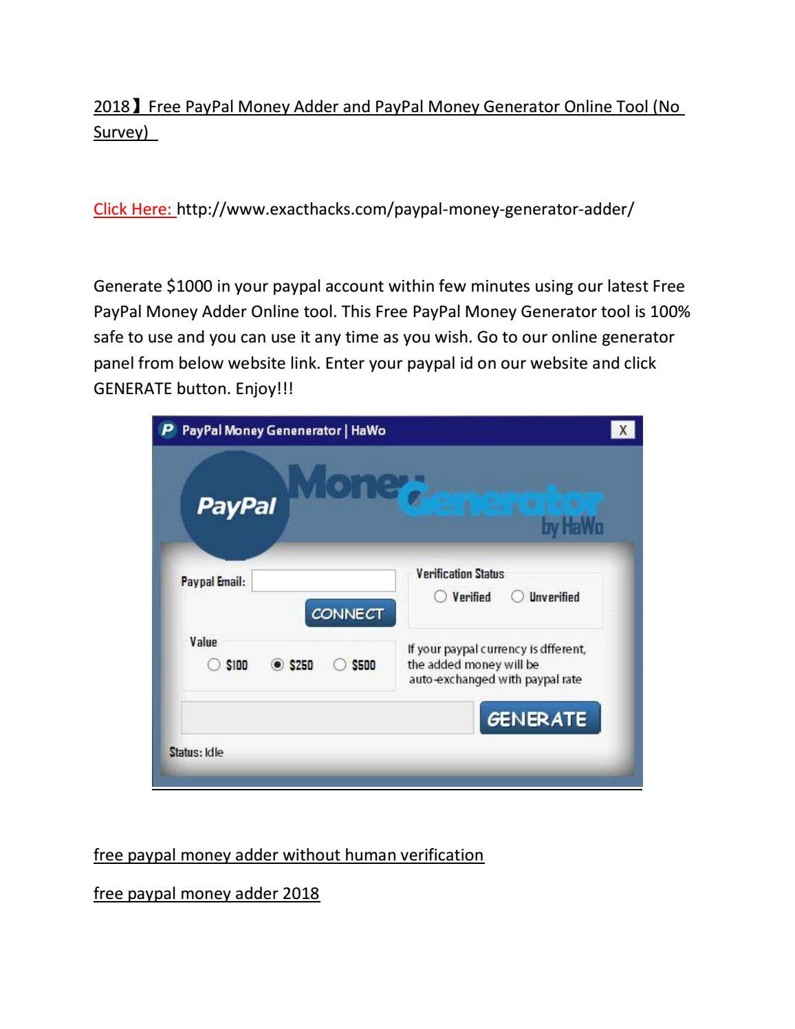 2018 Free Paypal Money Adder And Paypal Money Generator By Alison Paul Issuu