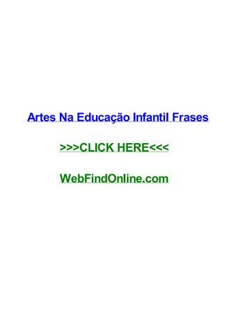 Artes Na Educaггјo Infantil Frases By Bobklgw Issuu