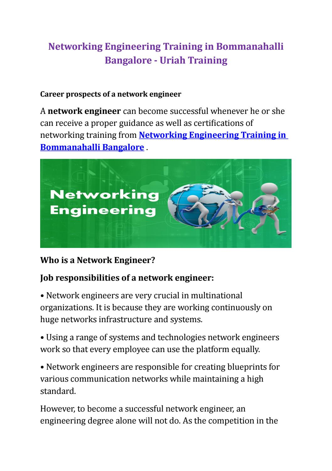 Networking Engineering Training In Bommanahalli Bangalore By